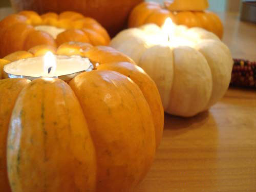 How to make a tea light holder from pumpkin