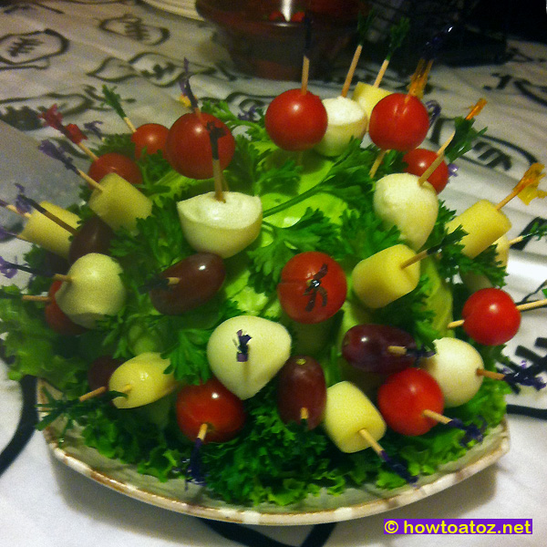 Appetizer decoration idea how to a to z for Appetizer decoration