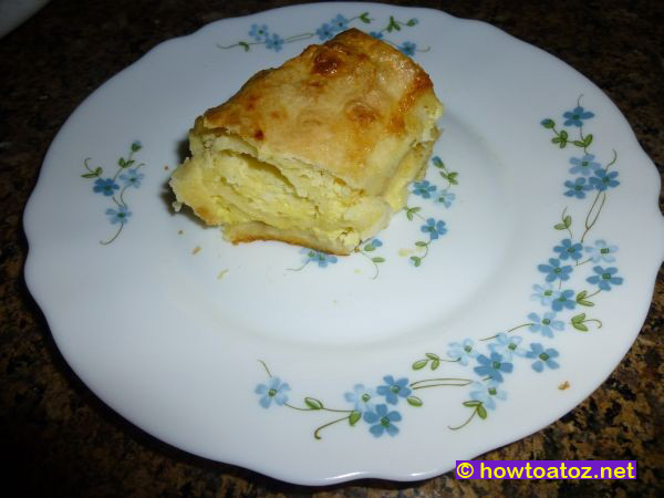 Feta Cheese Pie - Gibanica - How to A to Z