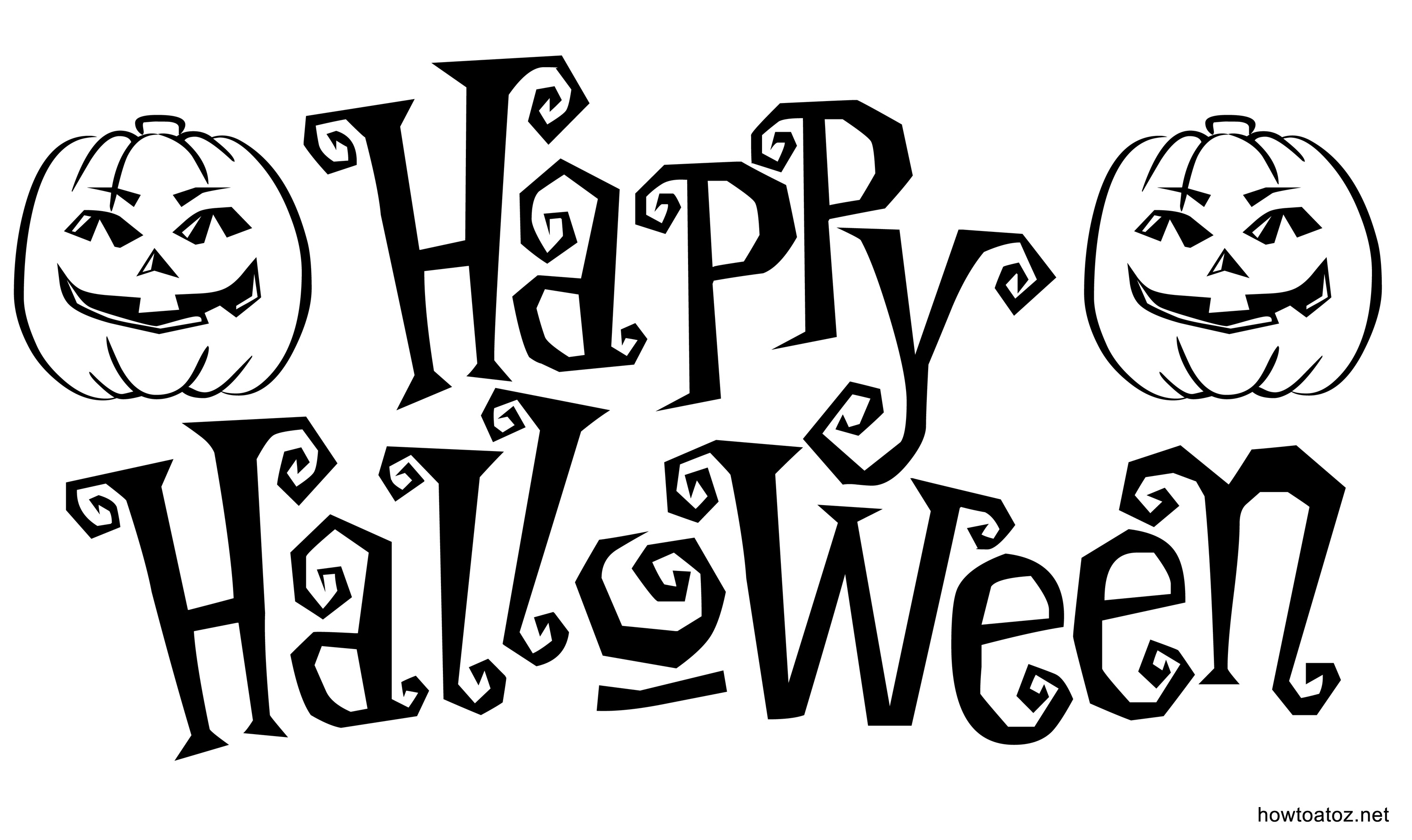 Free Halloween decoration Stencils And Templates - How to A to Z