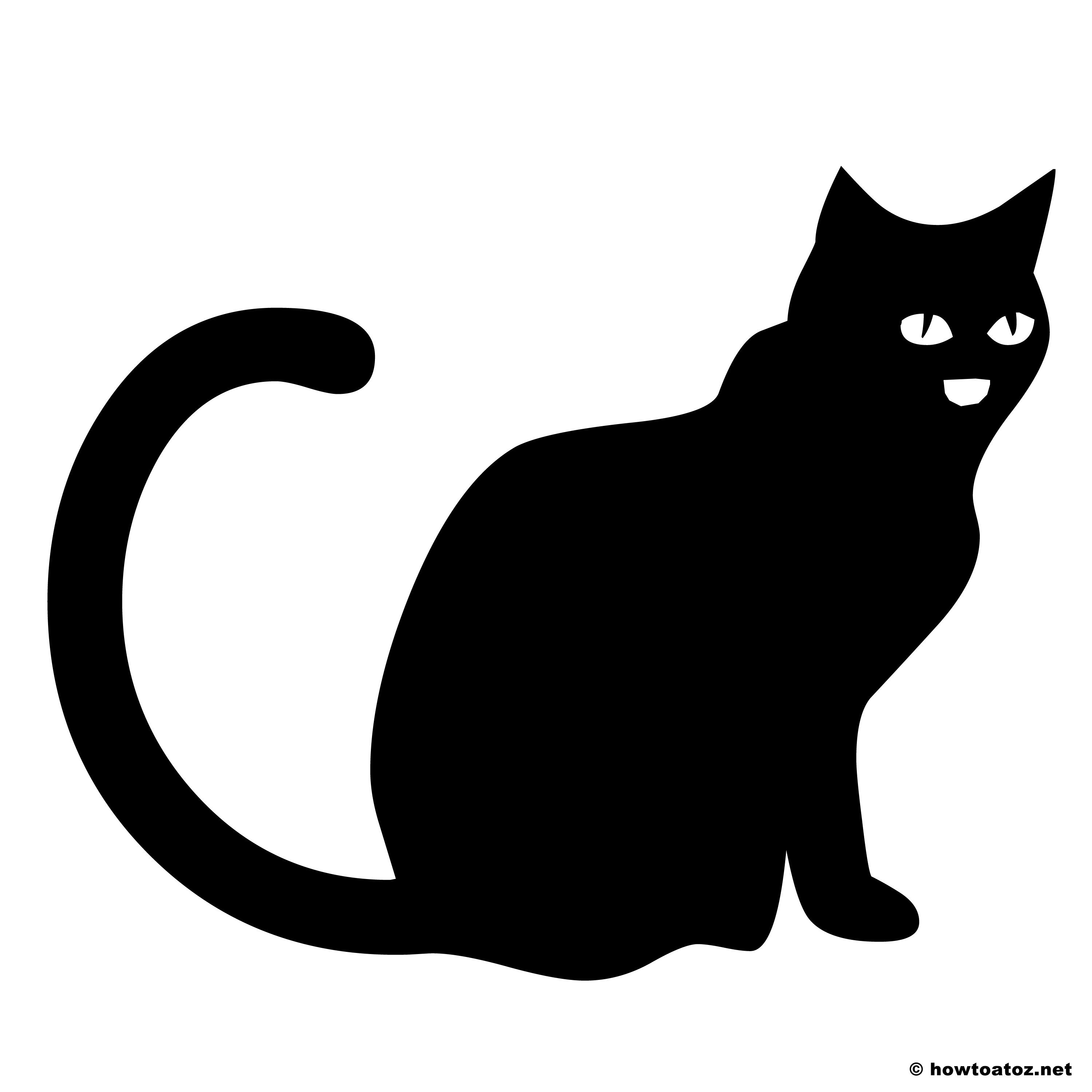 Halloween decoration stencils and templates vol 2 how to for Black cat templates for halloween