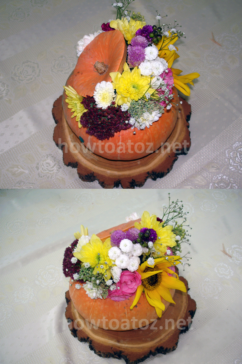 Pumpkin Flowers Decoration