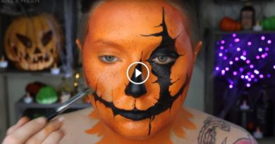 Pumpkin Head Halloween Makeup Tutorial
