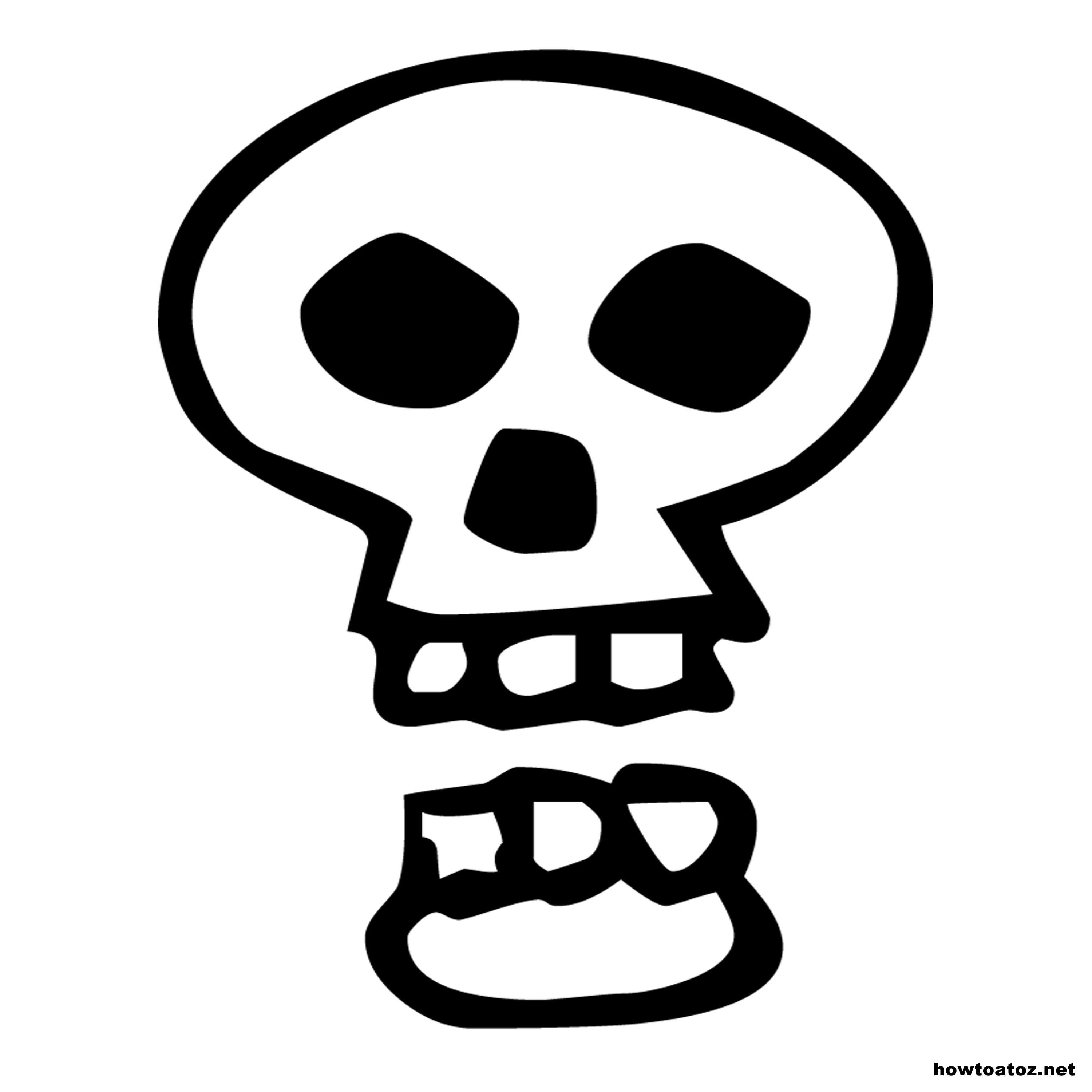 photo relating to Skull Stencils Free Printable identify Halloween Decoration Stencils And Templates - How toward A in the direction of Z