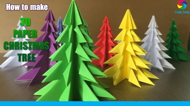 How To Make A 3D Paper Christmas Tree